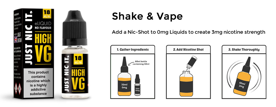 How to add a Nic Shot to your 50ml Short Fill E-Liquid