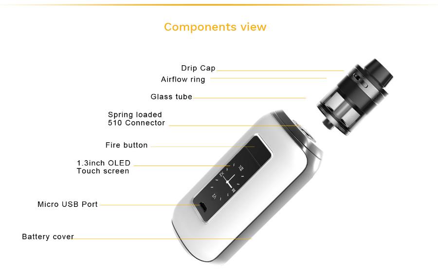 components Nerilo Aspire SkyStar Revvo Kit