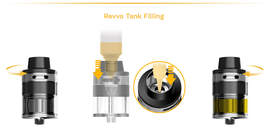 tankfilling Nerilo Aspire SkyStar Revvo Kit